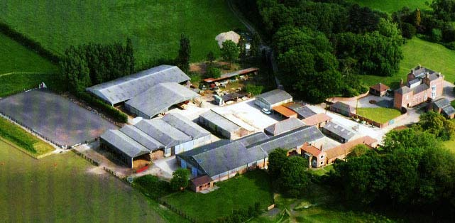 Aerial view of Lambley House