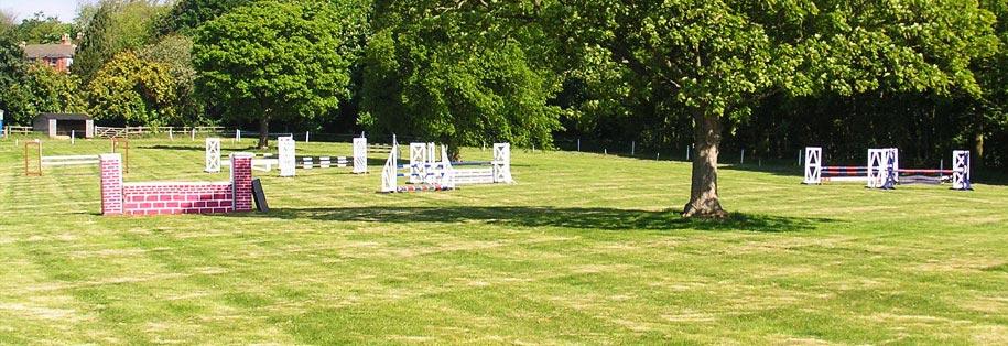 Jumping field at Lambley House
